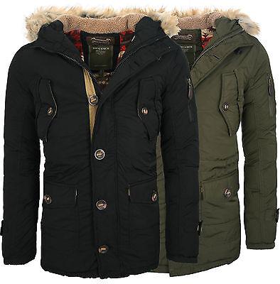 Young & Rich warme gefütterte lange Herren Winter Jacke Mantel Parka NEU JK-419