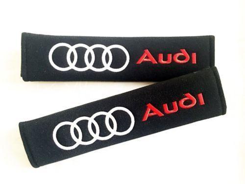 2 x Seat Belt Cover Pads Audi 1 paire 2pc Vendeur Britannique