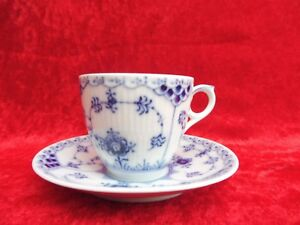 Beautiful-Cup-With-Saucer-Copenhagen-Fluted