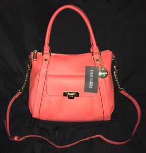 STEVE MADDEN PURSE CROSSBODY CORAL HANDBAG WiTH DETACHABLE STRAP, NEW WITH TAGS