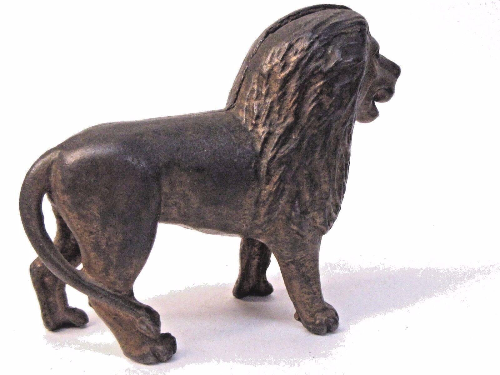 1920's STANDING LION 5  cast iron still bank A.C. Williams ALL ORIGINAL