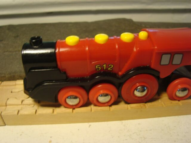 Brio battery toy train. lights ,sounds Mighty Red Locomotive 512 includes 2 AAA