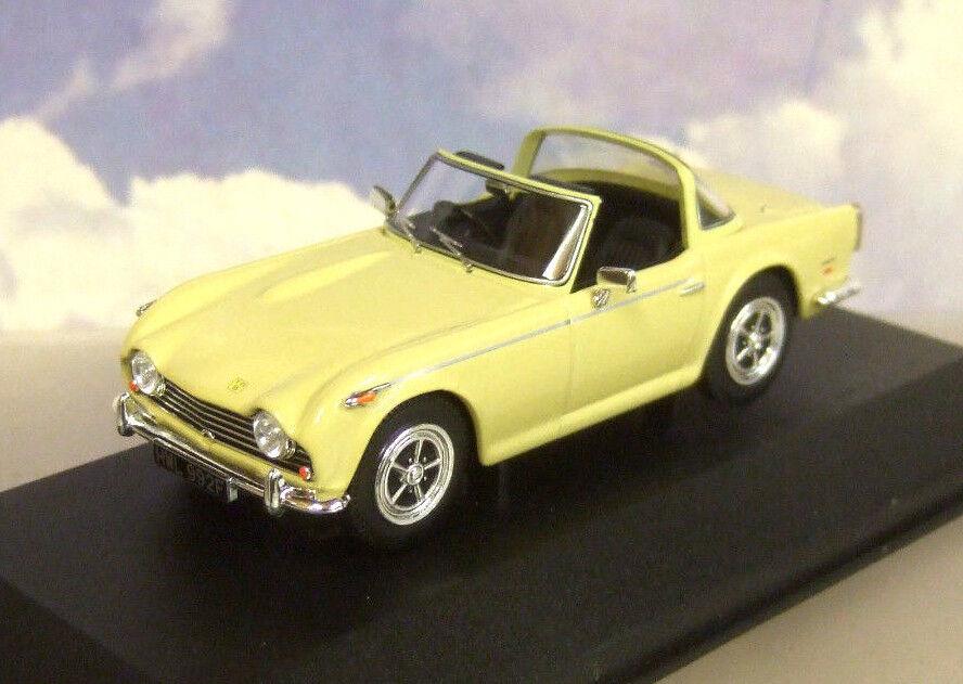 Estupendo CORGI VANGUARDS de metal 1 43 1968 Triumph TR5 en Jazmín giallo