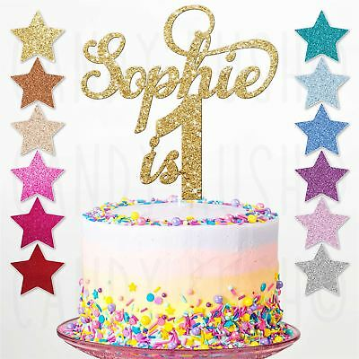 Surprising Personalised 1St Birthday Glitter Cake Topper Custom Any Name Age Personalised Birthday Cards Paralily Jamesorg