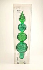 2007 IKEA ISIG CHRISTMAS TREE TOPPER GREEN GLASS SPIRE ...