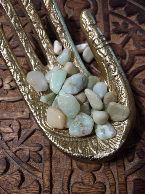 Chrysoprase Tumbled Stones for Grids Chalcedony Crystals Healing Reiki Chakras