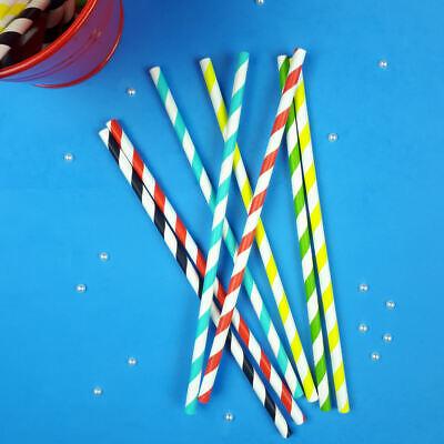 Barbits Candy A Righe Carta Bere Cannucce Confezione Da 100 Eco Friendly Arcobaleno-mostra Il Titolo Originale