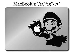 Details about SUPER MARIO BROS Decal LAPTOP / MACBOOK Mac Pro Air Sticker  Apple ALL SIZES M74
