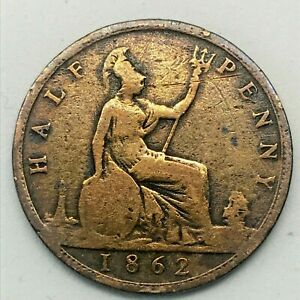 1862-GREAT-BRITAIN-VICTORIA-1-2-HALF-PENNY-BRONZE-COIN-KM-748-2