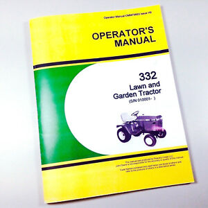Operators Owners Manual For John Deere 332 Lawn Garden Tractor Mower. Is Loading Operatorsownersmanualforjohndeere332lawn. John Deere. John Deere 332 Diagram At Scoala.co