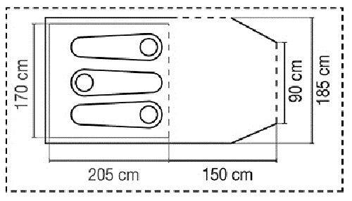 Coleman cortes tienda túnel 2-3 personas compacto espacioso estable resistente a la intemperie