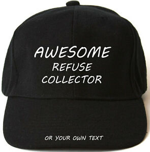 AWESOME-REFUSE-COLLECTOR-PERSONALISED-BASEBALL-CAP-HAT-XMAS-GIFT