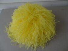 Vintage Yellow Ostrich Feather Le Vogue Hat, Small, Unique, Beautiful, Exquisite