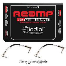 Radial Reamp JCR Studio Reamper Passive John Cuniberti Re-amping NEW w 2 Cables