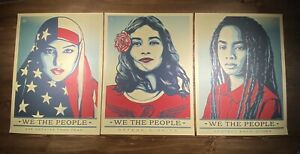 Shepard-Fairey-Obey-Giant-WE-THE-PEOPLE-Art-Print-Poster-SET-Of-3-Prints-18X24