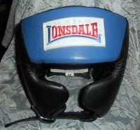 Nip Lonsdale Amateur Competition Headgear Head Guard Us Boxing Specs Blu Size M