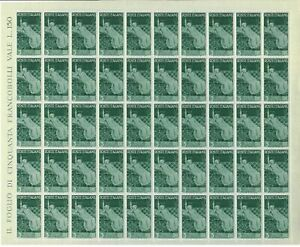 S31777) Italy 1946 MNH Advent Rep. L.3 Full Sheet Folded