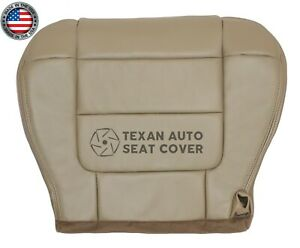 2001-Ford-F150-Lariat-Super-Crew-Driver-Bottom-Synthetic-Leather-Seat-Cover-Tan