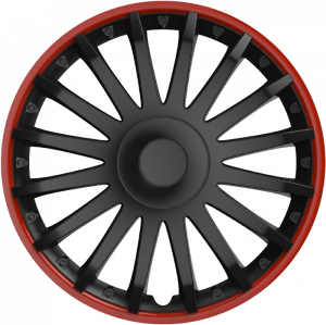 "Vauxhall Cavalier 88-95 15/"" 15 in Voiture Van Enjoliveurs HUB Caps Rouge /& Noir environ 38.10 cm"