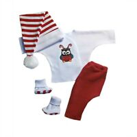 Christmas Owl Unisex Baby Clothing Outfit 4 Preemie And Newborn Infant Sizes
