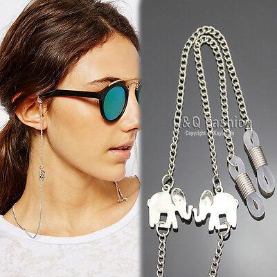 Fab Silver OM Hindu Ganesha Ganesh Elephant Pendant Eyeglasses Sunglasses Chain