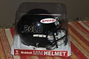 Riddell-Mini-Speed-Helmet-Dated-2018-Black-No-Team-NEW-NFL-Football
