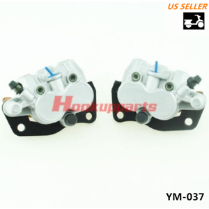 FRONT BRAKE CALIPER SET L/&R FOR YAMAHA RHINO 450 YXR45 2006-2009 WITH PADS