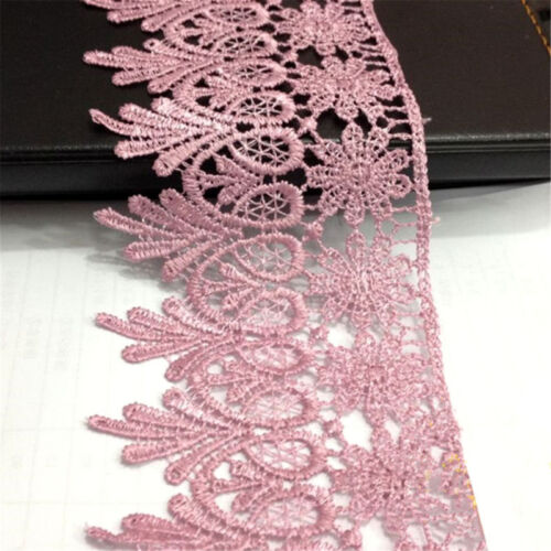 1 Yard Vintage Lace Trim Ribbon Polyester Crochet for Wedding Dress Sewing Craft