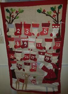 Pottery Barn Kids Stocking Advent Calendar New Never Mono