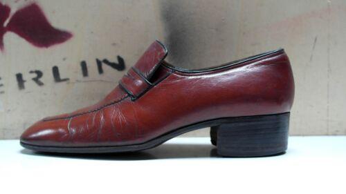 True 7 Vintage da Elegance Mocassini Uk uomo Mocassini pelle Loafer '90 anni in Shoes 41 4Bxvw