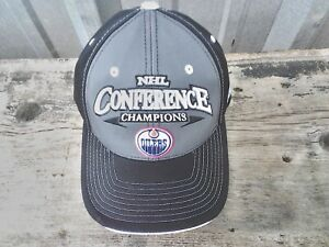 New Edmonton Oilers Hat 2006 Conference Champs Nhl Cap Reebok 5184 Locker Room Ebay