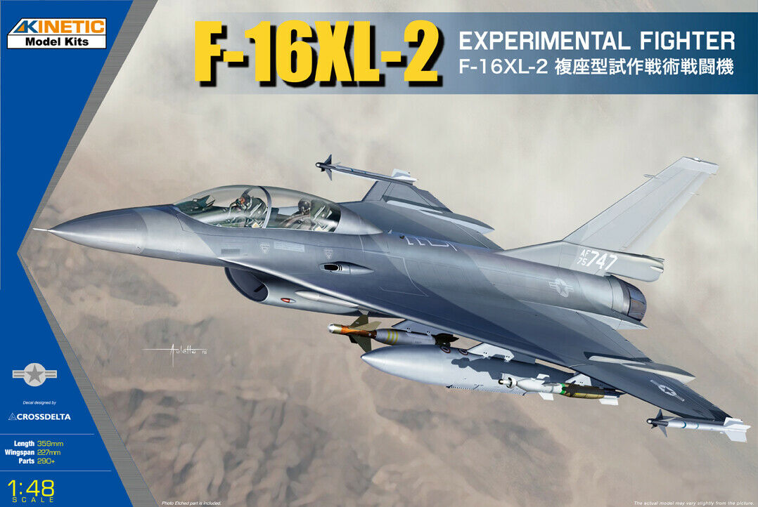 Kinetic 1 48 General-Dynamics F-16XL-2 Experimental combatiente   48086