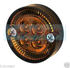 SIM 3194 12V/24V 42mm SCREW ON LED ROUND AMBER ORANGE SIDE MARKER LAMP/LIGHT