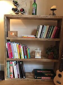 cheap for discount b1031 99773 Details about Wooden Rustic Reclaimed Wood Shelving Unit Bookshelf Handmade  Storage Solid