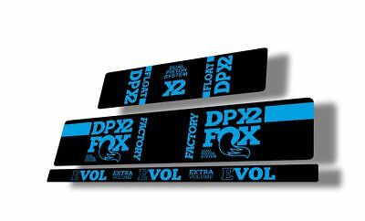 FOX Float DPX2 Rear Shock Suspension Sticker Factory Decal Kit Adhesive White