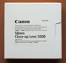 Canon 500D 58mm Close-up Lens Genuine Made in Japan New