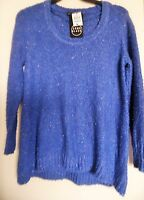 Como Blue Long Sleeve Knit Pull Over Sweater Top Womens Size Xl