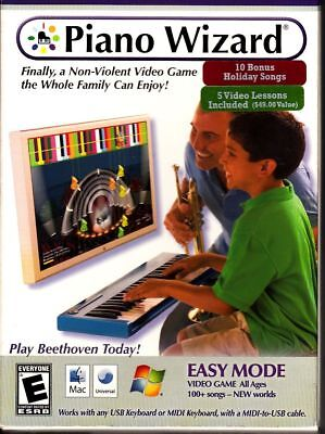 Piano Wizard Easy Mode Computer Game Mac Windows for USB or Midi Keyboard  185866000422 | eBay