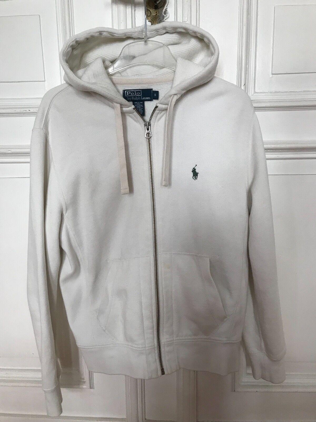 Polo Ralph Lauren Kapuzenpullover Pullover Sweatshirt weiß Gr. S 84% Baumwolle