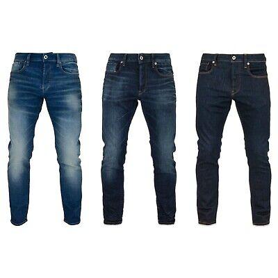 G Star Jeans G STAR 3301 Slim Fit Jeans Ultra foncé, Rincé Denim, Bleu Délavé | eBay