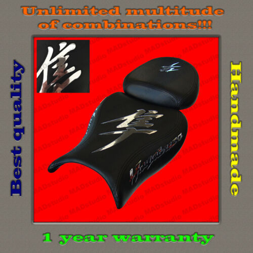 Custom Design Seat Cover Suzuki Hayabusa 08 MIRROR black+CHROME 001