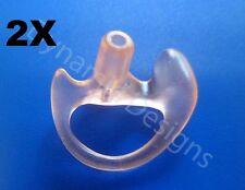 2 Ear Molds for Acoustic Tube Headsets Shoulder Speaker Mic's Medium Right Side
