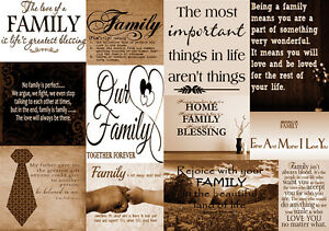 Image Is Loading Family Quotes Brown Tone Canvas Wall Art Picture