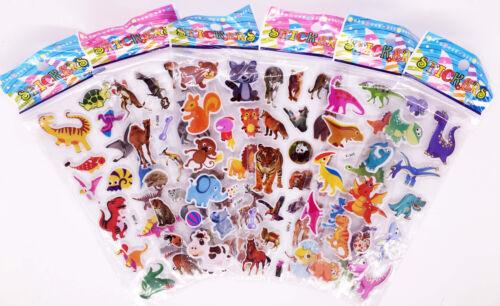 Hto Cartoon Panda Bear Dinosaur Pvc Puffy Stickers Children Halloween Xmas Gifts