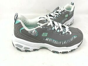 NEW-Skechers-Women-039-s-DLites-Interlude-Lace-Up-Shoes-Gray-Mint-11978-175P-tz