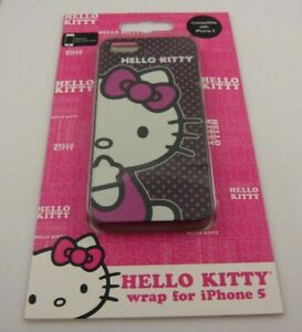 for-iphone-5-phone-case-wrap-Hello-Kitty-Pink-black-white-fits-i-phone-5