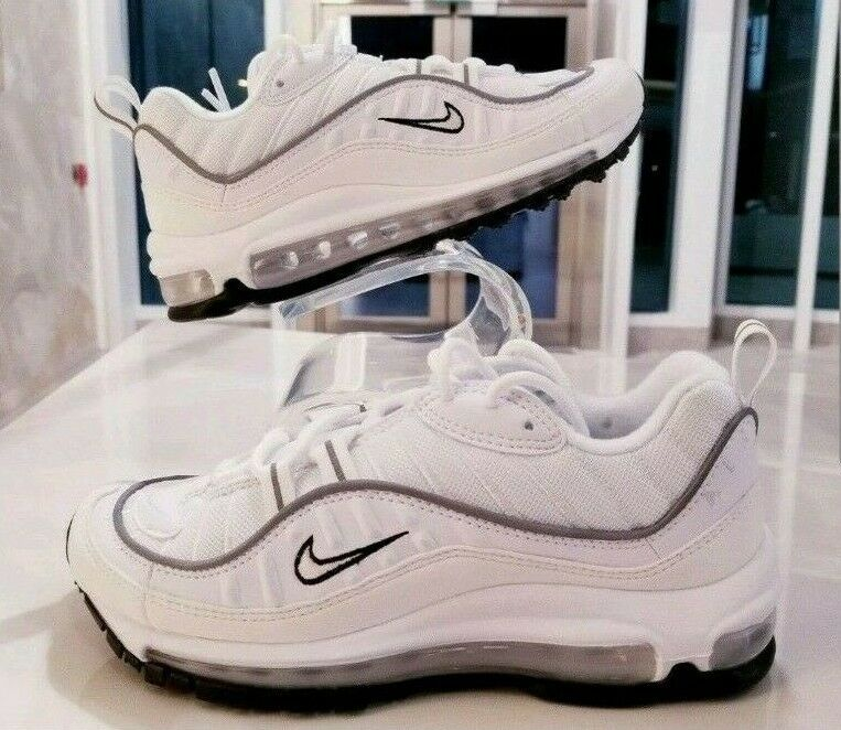 Nike Air Max 98 White Reflective Silver Sail Cream Women's SZ (AH6799-103)