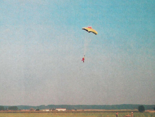 15 Inch Tall R//C Parachutist Skydiver Plans,Templates and Instructions