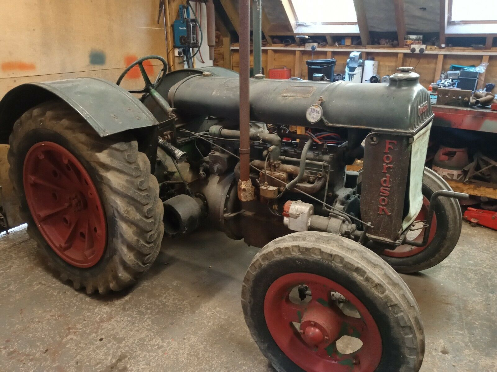 1942 Fordson Standard N Tractor TVO Ford Antique Vintage 2243 Ploughing Show