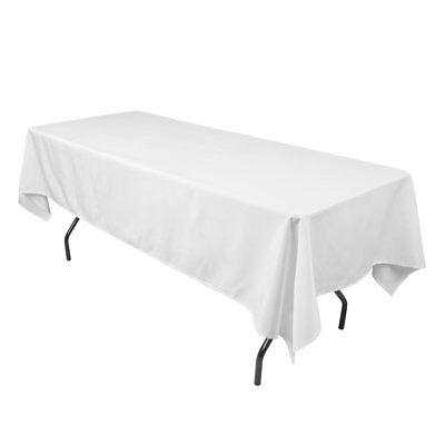 """90/""""x156/"""" Rectangular Tablecloth Fabric Linen Cloth Dinner Wedding Banquet Red"""